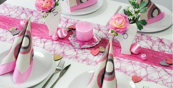 Tischdekoration In Erika Himbeere Kaufen Tischdeko Shop Deko Konfirmation Madchen Taufe Tischdekoration Konfirmation
