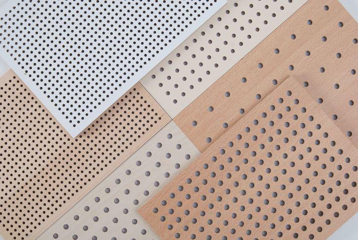 Panneaux acoustiques perforés
