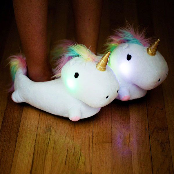 Cheap love gifts for girlfriend, Buy Quality unicorn gifts directly from China creative gifts for boyfriend Suppliers: 28/31cm 1pair Glowing Unicorn Slipper Creative Household Items Light Lovely gift for you Girlfriend Boyfriend Family Slippers