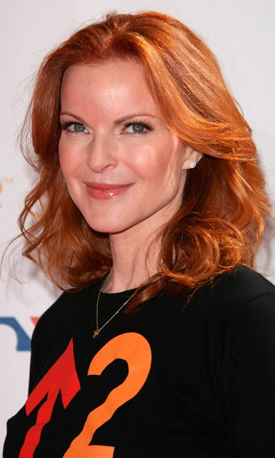 Marcia Cross Hair Color Real Fiery Red Marcia Cross Hair Color