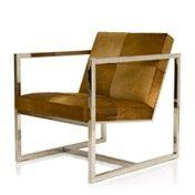 Leather and chrome armchair