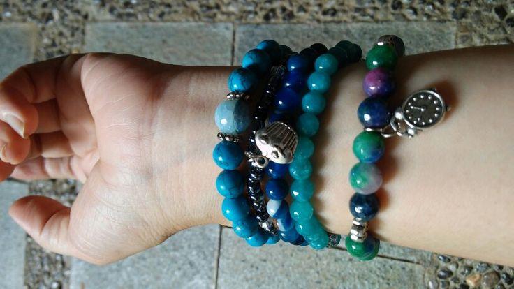 My masterpieces..stone bracelets