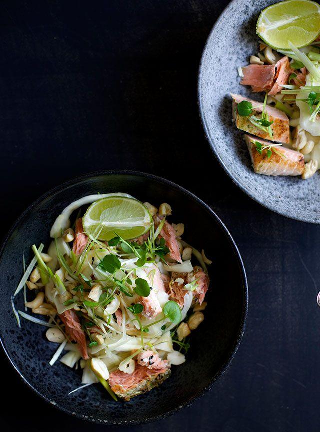 Salat med laks