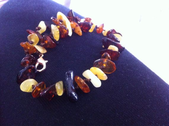 Adjustable baltic amber anklet for baby/child  by BalticWonders