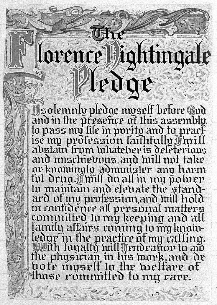 Pledge of Florence Nightingale Wellcome L0008728  Florence Nightingale  Wikipedia  Heroes