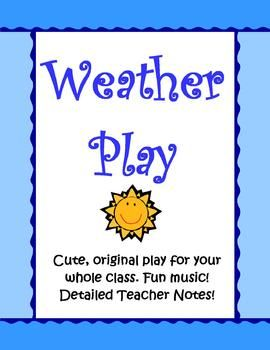 This 10 page Weather Play is an original one that I wrote for my class as an end of the year performance for parents and students.Not only does it contain excellent science information about the water cycle, weather phenomenon like rain, snow, hail, thunder, lightning, and cloud types but it's also funny and is one the audience will love!
