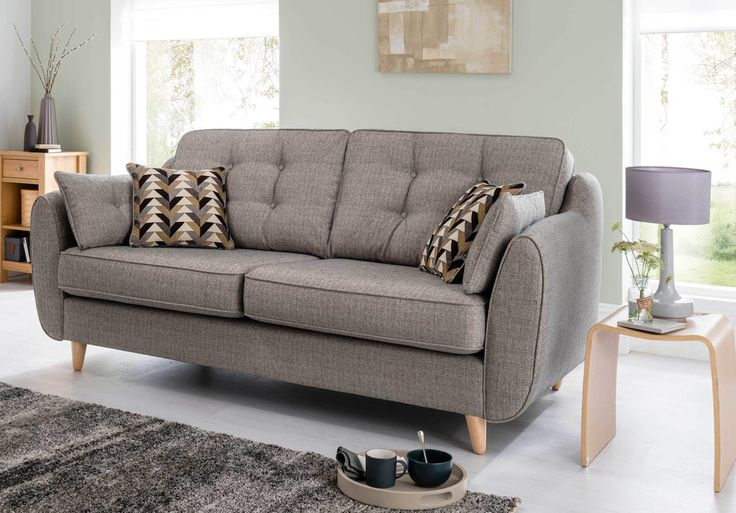 Only £699 (RRP £1595) Daltrey 3 Seater Sofa - Retro Mid Century Style Sofas #yorkshire | The Interior Outlet | #sofa #outlet