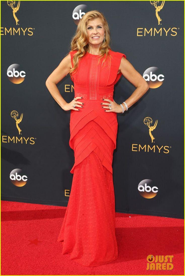 Connie Britton wearing Talbot Runhof at the 2016 Emmy Awards