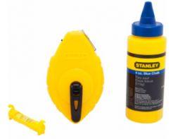 Stanley 47-443 100-Foot ABS Chalk Reel , 4oz Blue Chalk, Line Level