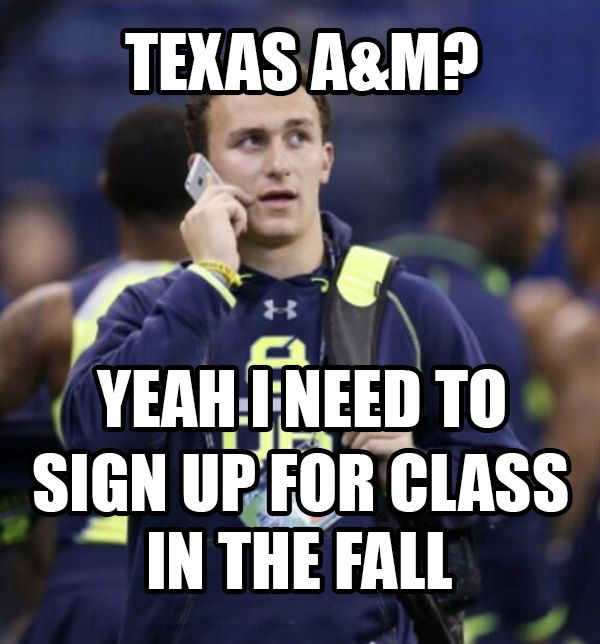 The Most Hilarious Memes Of Johnny Manziel Waiting To Get Drafted