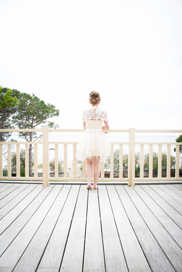 Vue sur le Bassin d'Arcachon du balcon de la Villa La Tosca à Taussat. Photo Lucile Crestey Photographie pour Bonheur d'un Jour