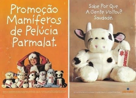 Promoção mamíferos de pelúcia parmalat anos 90.