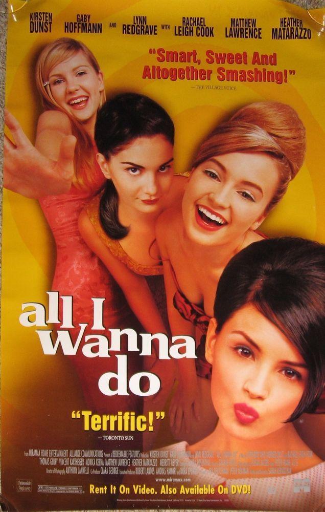 All I Wanna Do Movie Poster Kirsten Dunst Gaby Hoffmann Monica Keena