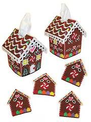 Gingerbread House Decor Plastic Canvas Pattern from www.AnniesCatalog.com.
