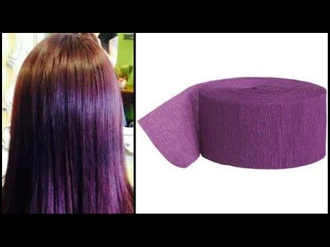 DIY: Coloring My Hair Using Purple Crepe Paper (Temporary Hair Color) - YouTube