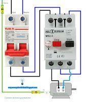 Esquemas eléctricos: Conexión de motor guardamotor