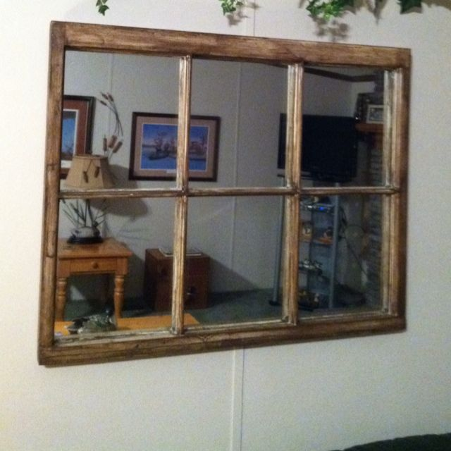 I Made This From An Old Window Frame And Mounted A Mirror