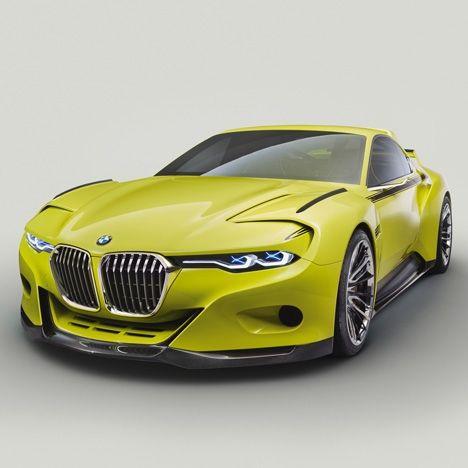 bmw reinterprets 1970s racing coup as a carbon fibre concept car