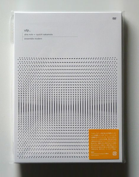 Cover design for utp_ by Carsten Nicolai (aka Alva Noto) + Ryuichi Sakamoto, 2008