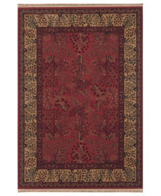 Couristan Area Rug Kashimar Tree Of Life Bordeaux X