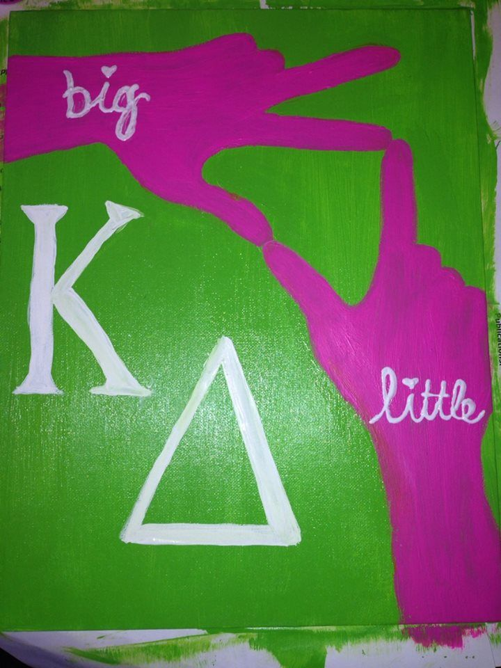 KAPPA DELTA CANVAS  Made this for my little!!! love her!!! Kappa Delta!! eiu
