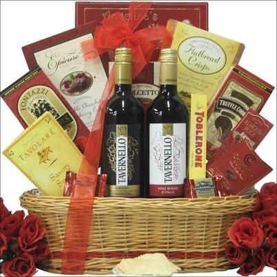 Love is in the air and there is no better time to send them our 'That's Amore!' Gourmet Wine Gift Basket. This basket features Tavernello Vino Rosso and Sangiovese Red Wines - both of which are #1 Selling Brands in Italy. To compliment these wonderful ...