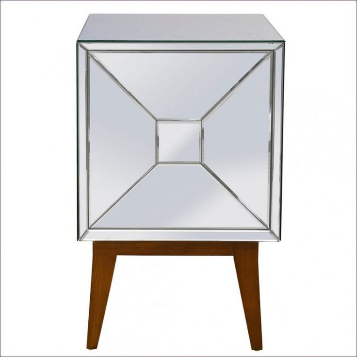 Nightstand:Nightstands Under Dark Wood And Mirrored Nightstand Bedside  Tables Chest Headboard With Mahogany Silver