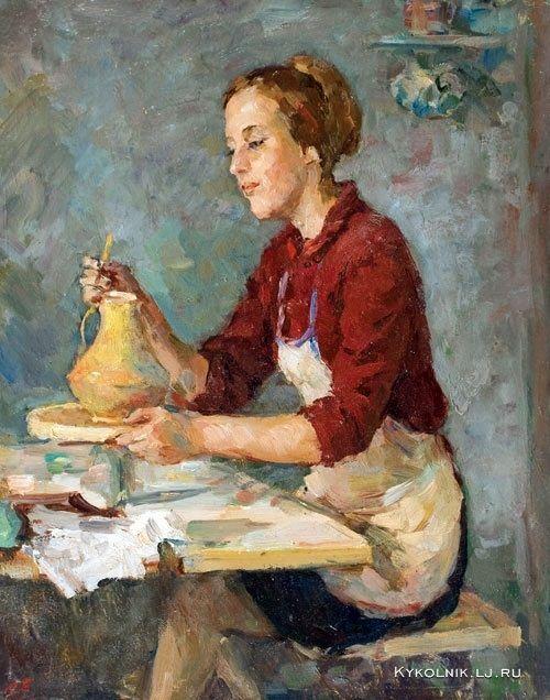 Богданов Александр Николаевич (Россия, 1908-1993) «Керамистка» 1968