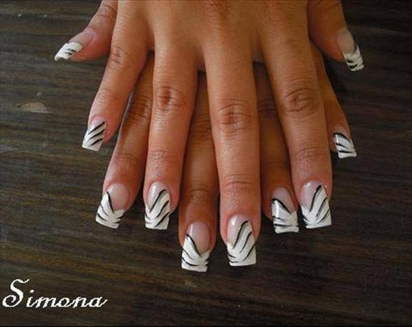 Fancy French Manicure Nail Art Pinpoint Properties