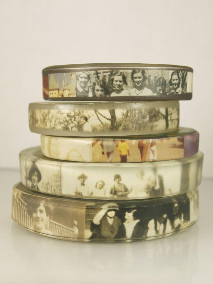 Image of Personalized Photo Bangle Bracelet