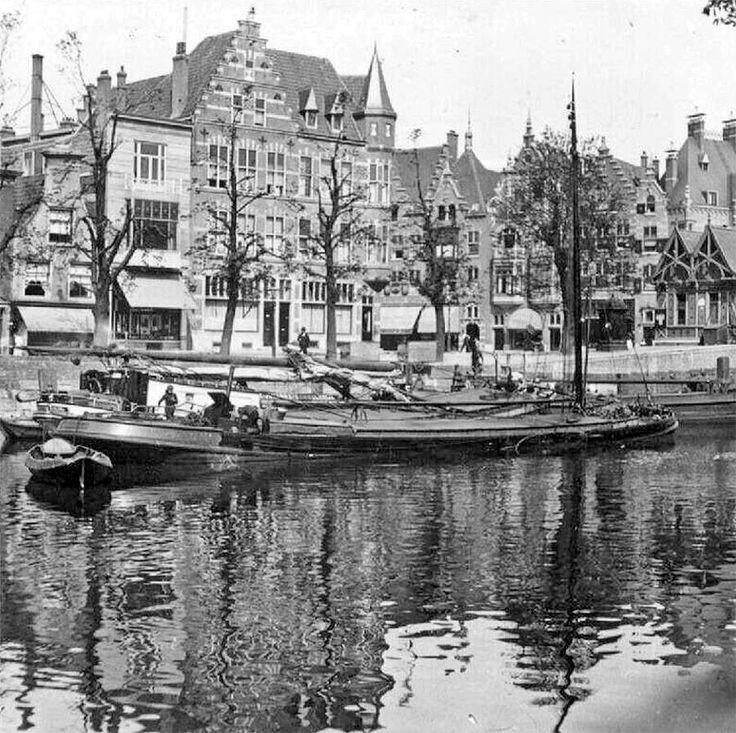Aelbrechtskolk, hoek van de Schiedamseweg, rond 1920.