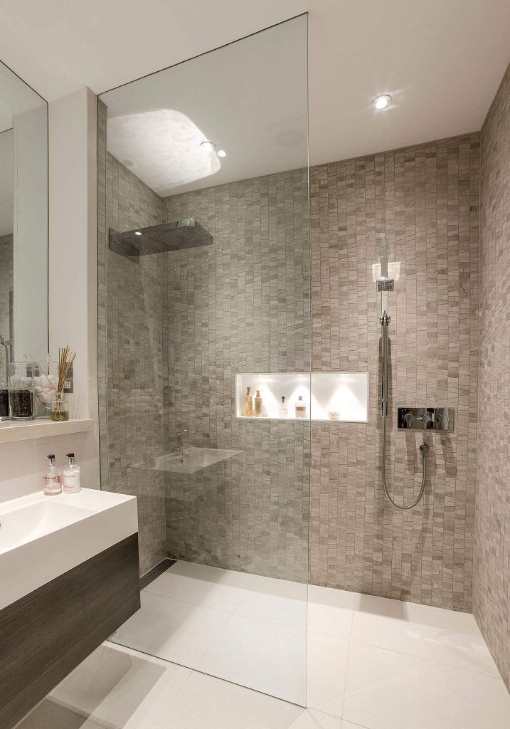 44 Modern Shower Tile Ideas And Designs 2020 Edition Shower Room Bathroom Shower Design Modern Bathroom Decor