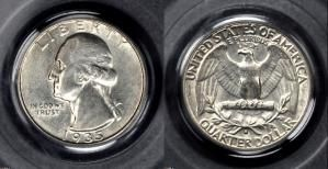Grading Washington Silver Quarters Made Easy: About Uncirculated-55 (AU55 or AU-55)