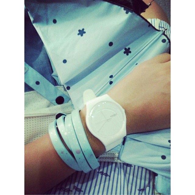#Swatch: Instagram, Ice Watch, Range, Blue, White, Swatches