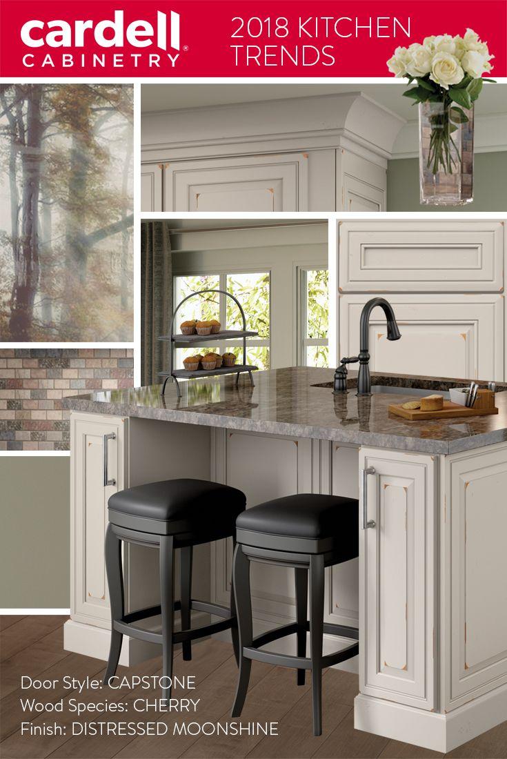 Malmo Mocha Klearvue Cabinetry With Moonstruck Riverstone Quartz Island Find Out More At Menards Com Quartz Kitchen Countertops Kitchen Solutions Kitchen