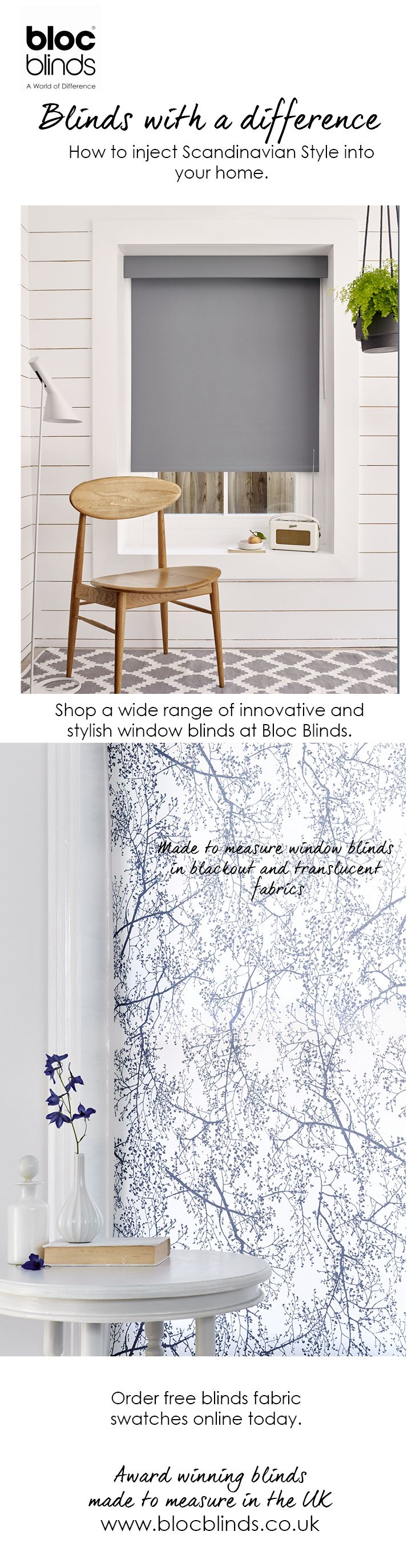 Chic and simple, the Scandi style is a staple in contemporary home decor. Bloc Blinds have a wide range of window dressing solutions allowing you to create your own  Nordic haven.