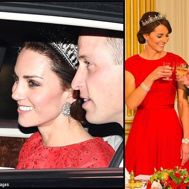 #NEW #TODAY 8 December 2016: The Diplomatic Reception is happening now! This is usually where we only see car pictures of the royals. Today, Kate is wearing her red Jenny Packman dress and the Cambridge Lover's Knot Tiara that she wore to the Chinese State Dinner (pictured right). #katemiddleton #princewilliam  via ✨ @padgram ✨(http://dl.padgram.com)