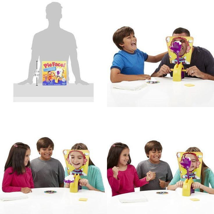 Xmas Gift Pie Face Board Family Fun Toys Rocket Modern Game Halloween Christmas #Hasbro #Custom