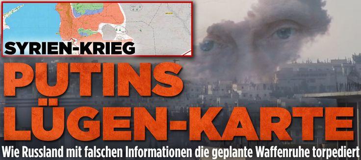 Waffenruhe wird sabotiert - Putins neue Lügen- Karte zu Syrien http://www.bild.de/politik/ausland/syrien-krise/waffenruhe-syrien-44701008.bild.html