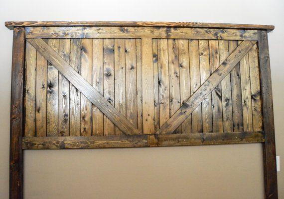 Rustic Barn Door Headboard Rustic Headboard by Filomenahomeandfarm
