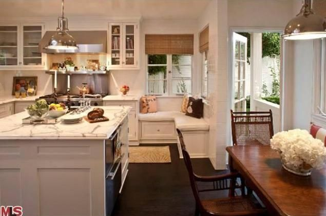 The kitchen was recently remodeled and decked out with high-end appliances.