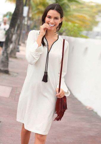 Šaty s dlhými rukávmi a šnúrkou #ModinoSK