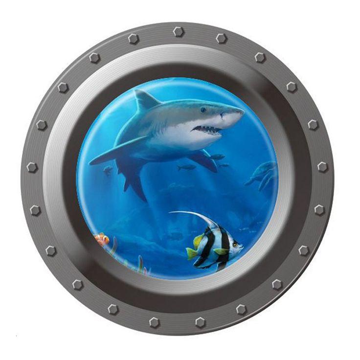New-Underwater-Shark-Ocean-View-Home-Decor-Mural-font-b-Wallpaper-b-font-3d-font-b.jpg (800×800)
