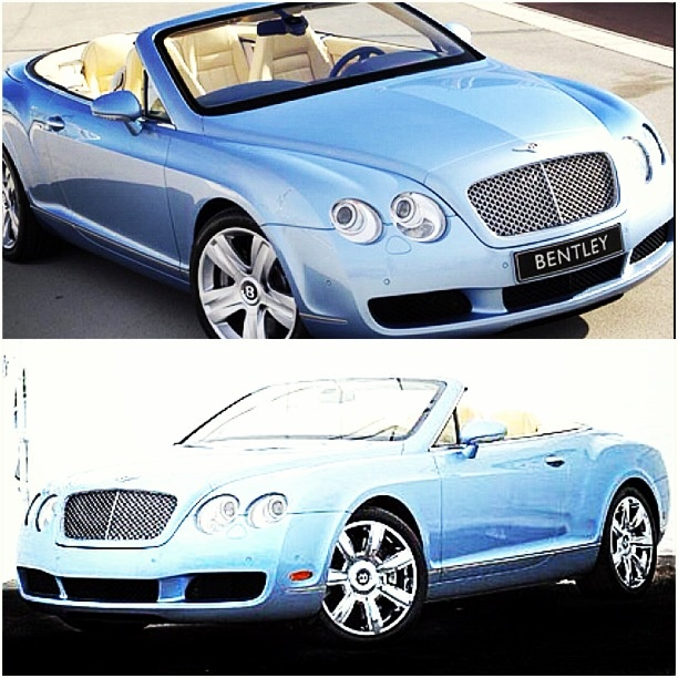 Baby Blue Convertible Bentley