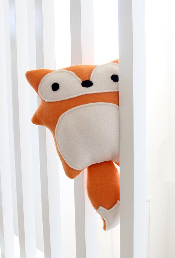 Red Fox Plush Toy Evelyn adorable cute soft by RainingSugar