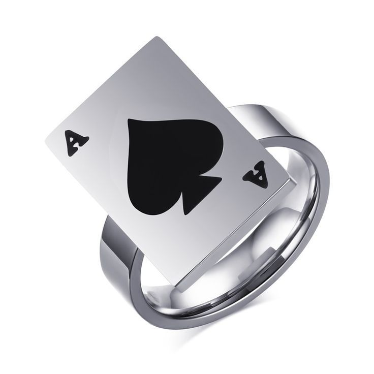 Black Ace Poker Card Ring ($16,95USD) - SharezUp donates one clothing piece of your choice to people in need for every sale. Let's #changetheworld together!