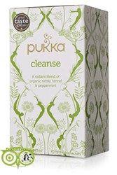 Pukka Thee Cleanse Een reinigende thee met biologische kruiden als brandnetel, paardebloem wortel en venkel zaad. Met een verkoeling van pepermunt en aloë vera.  Ingredienten Brandnetel (40%), pepermuntblad (25%), venkelzaad (25%), paar...