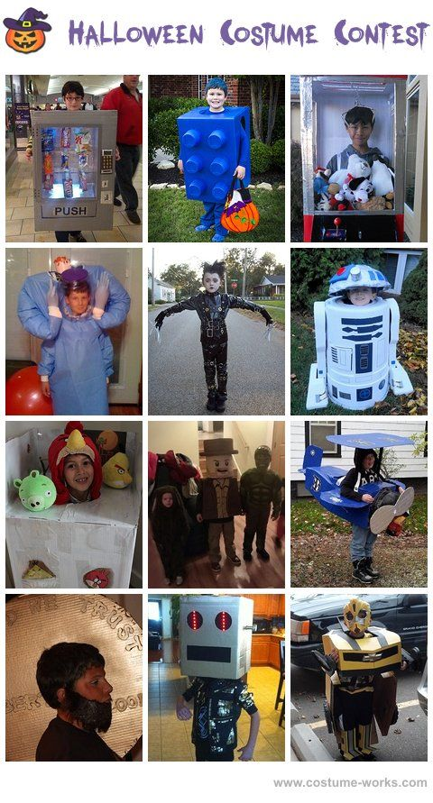 Homemade Costumes for Boys - a lot of DIY costume ideas!