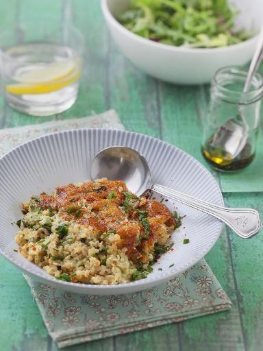 Recette de Gratin fondant courgettes quinoa