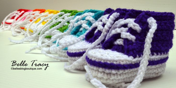 Crochet High Top Booties Free Pattern : Crochet Converse Slippers Free Pattern Video Tutorial ...